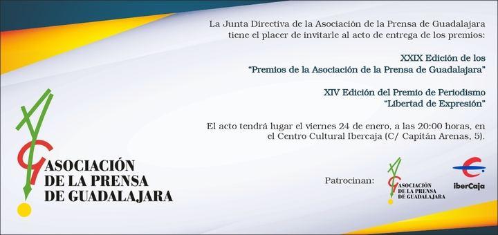 """Los periodistas de Guadalajara entregarán este viernes sus Premios Anuales y el XIV Premio de Periodismo """"Libertad de Expresión"""""""