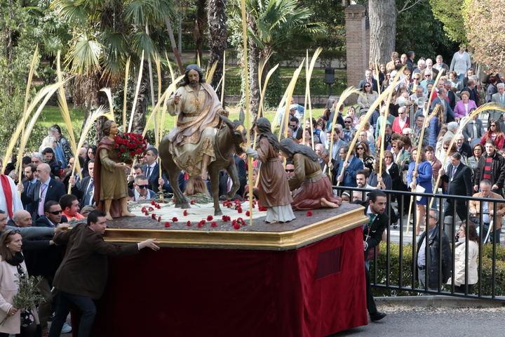 La procesión del Domingo de Ramos el año pasado por las calles de Guadalajara. Foto : EDUARDO BONILLA