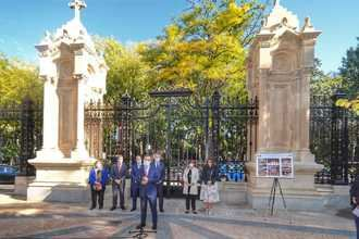 Finaliza la restauración de la reja del parque de Adoratrices de Guadalajara, del siglo XIX