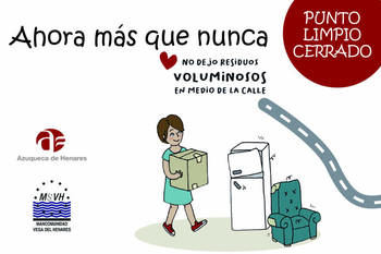 Atención, el Ayuntamiento de Azuqueca pide a la ciudadanía que no deposite voluminosos en la vía pública