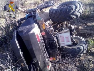 La Guardia Civil auxilia a dos personas tras accidentarse con un quad en Almonacid de Toledo