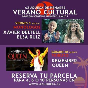 Un tributo a Queen y un espectáculo de monólogos, este fin de semana en 'Azuqueca Verano Cultural'