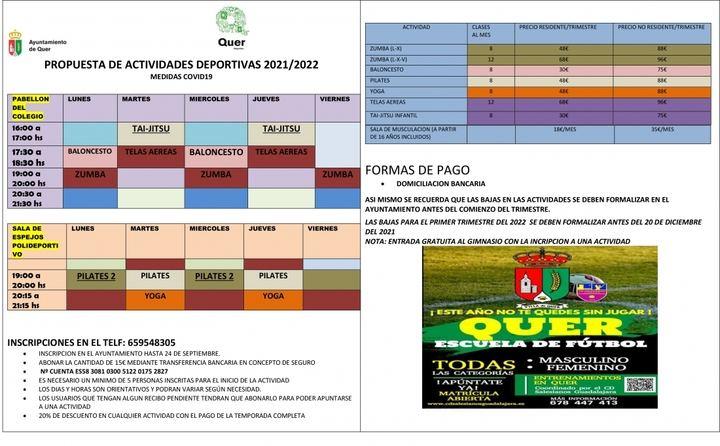 El próximo 1 de octubre comienza la temporada deportiva de Quer