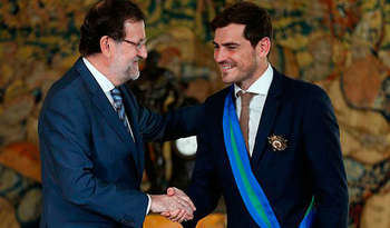 Mariano Rajoy e Iker Casillas (FOTO: Real Madrid)