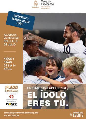 Azuqueca acoge del 5 al 9 de julio el Campus Experience Fundación Real Madrid