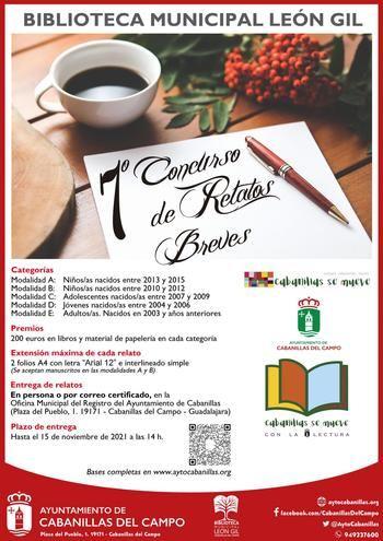 Convocado el VII Concurso de Relatos Breves de la Biblioteca Municipal León Gil de Cabanillas