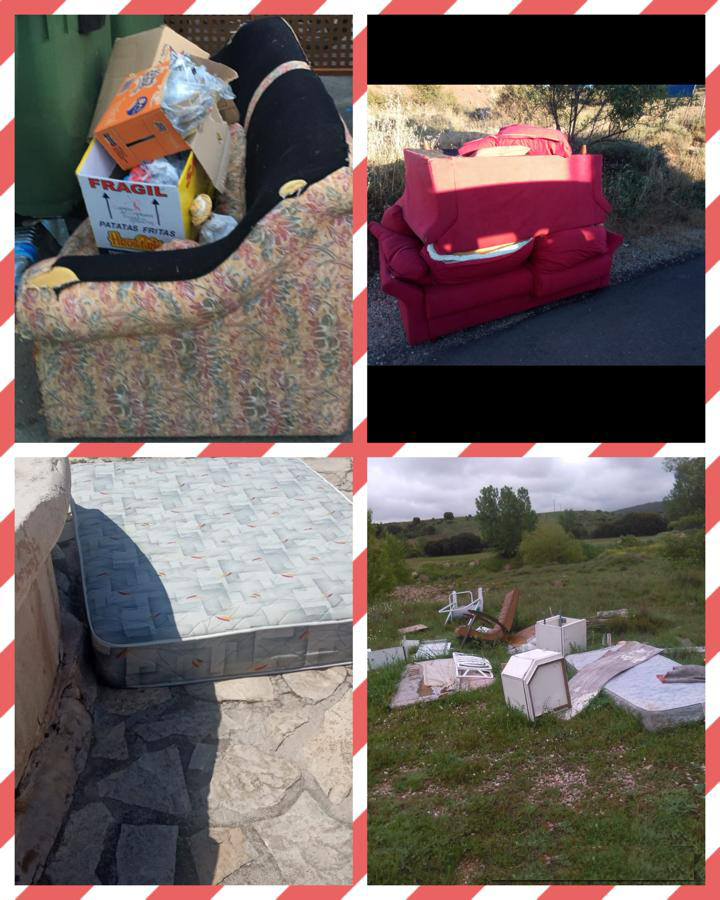Llamamiento del ayuntamiento de Sigüenza al civismo a la hora de hacer vertidos de residuos voluminosos