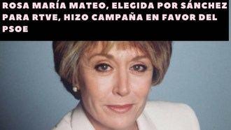 VARAPALO JUDICIAL AL GOBIERNO DE SÁNCHEZ : El Tribunal Constitucional declara que nombrar directora a Rosa María Mateo de RTVE fue INCONSTITUCIONAL