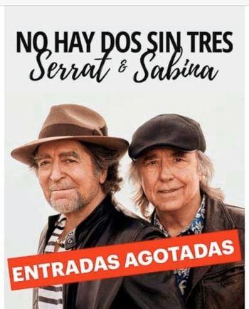 Serrat y Sabina agotan las entradas en Madrid y anuncian un segundo concierto para el 21 de enero en el WZink Center