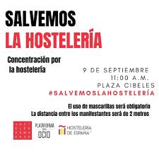 Los bares, restaurantes y hoteles de Guadalajara participarán en la Concentración/Protesta del 9 de septiembre en Madrid