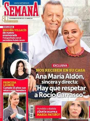 "SEMANA Ana María Aldón se sincera sobre Rocío Carrasco: ""Hay que respetarla"""