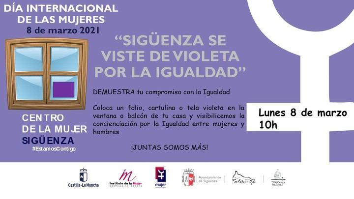 Sigüenza celebra el Día Internacional de las Mujeres vistiéndose de violeta y 'Bailando por la Igualdad'