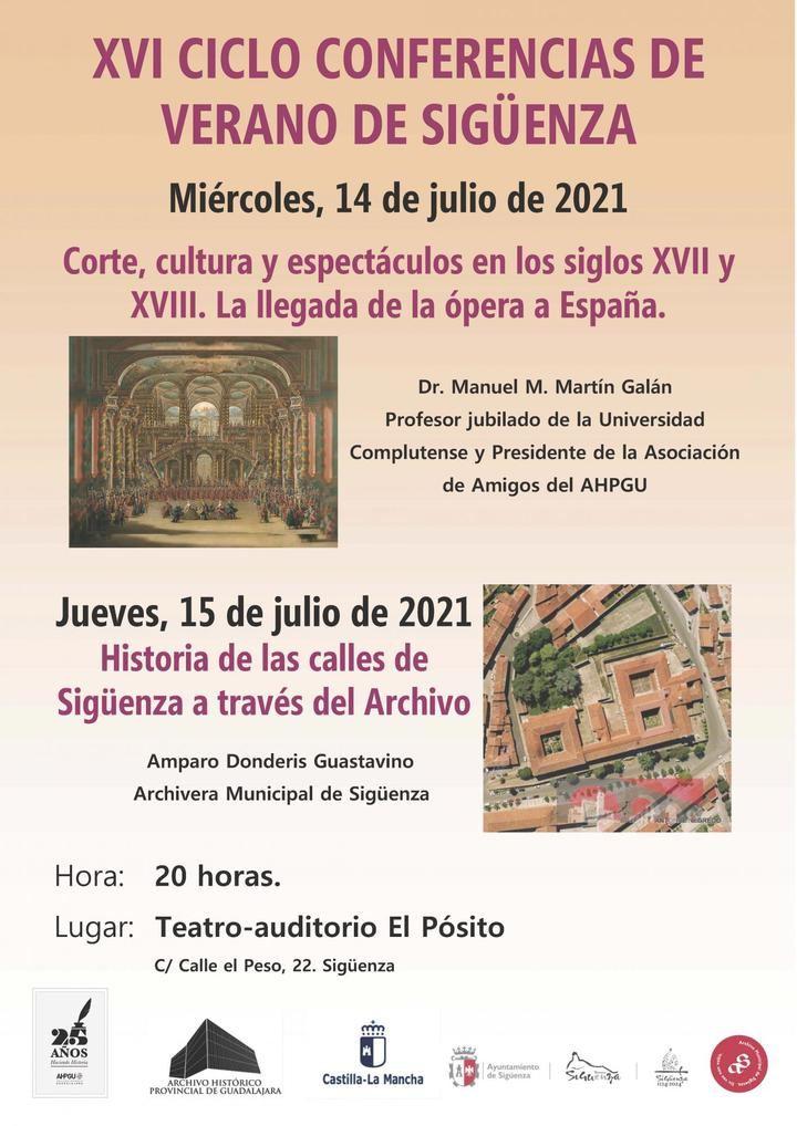 Los días 14 y 15 de julio, XVI Ciclo de Conferencias de Archivo en Sigüenza