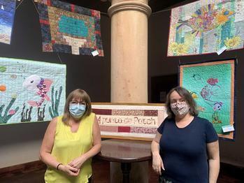 Sigüenza ha podido disfrutar este fin de semana de la exposición textil 'Peces y Mar'