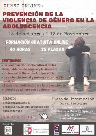 El Centro de la Mujer de Sigüenza promueve un curso online de Prevención de la Violencia de género en la adolescencia