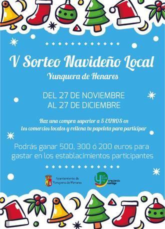 Comienza el V Sorteo Navideño Local de Yunquera de Henares con 32 establecimientos colaboradores