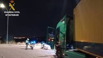 La Guardia CIivil de Guadalajara investiga a un camionero por