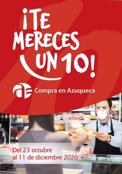 El Ayuntamiento de Azuqueca pone en marcha la campaña de apoyo al comercio y la hostelería local 'Te mereces un 10'