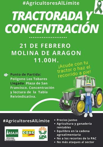 El campo estalla en Molina de Aragón contra el gobierno socialcomunista de Pedro Sánchez con decenas de tractores