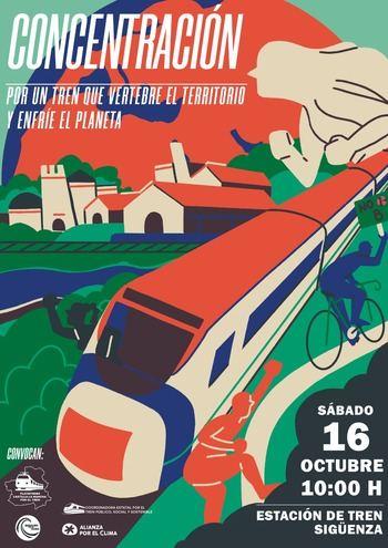 Una ruta ciclista en defensa del Ferrocarril convencional pasará este fin de semana por Sigüenza y Jadraque