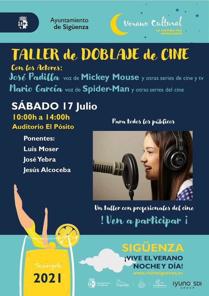 Este sábado, taller de doblaje, en el verano cultural de Sigüenza