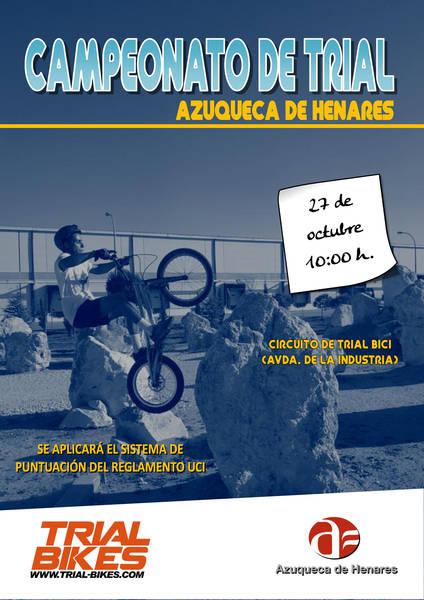 Este domingo, se celebra el Campeonato de Trial de Azuqueca