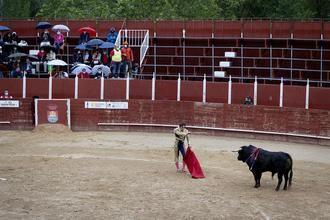 Puerta grande y salida a hombros, merecido final tras una tarde de toros pasada por agua en Trillo