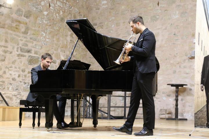 Soberbio concierto de trompeta y piano de SIMANT DUO en El Pósito de Sigüenza