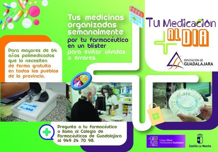 """UN APLAUSO : """"Tu medicación al día"""", el programa social de la Diputación de Guadalajara que llegará muy pronto a 80 usuarios"""