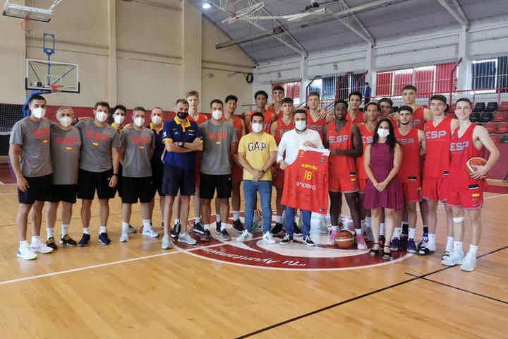 Concentración de la selección española U18 masculina de baloncesto en Azuqueca