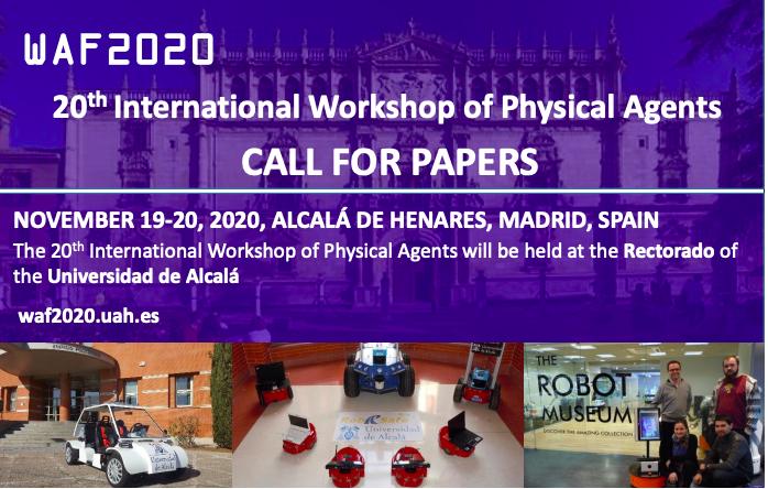 La inteligencia artificial, protagonista en la Universidad de Alcalá del 21er Workshop Internacional de Agentes Físicos (WAF2020)