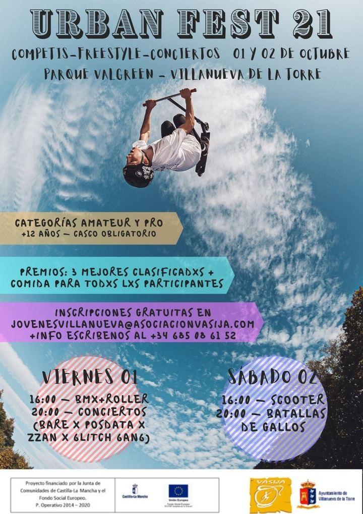 Villanueva de la Torre propone deporte y cultura urbana para la juventud con una nueva edición de su Urban Fest