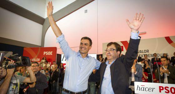 Fernández Vara abucheado en Mérida al defender los indultos a los presos del 'procés'