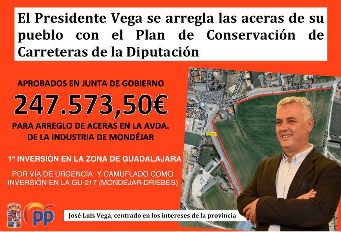 """Aseguran que """"García-Page ordena """"y la Diputación de Guadalajara, en manos del socialista Vega """"obedece""""...con el dinero de los ayuntamientos de la provincia"""