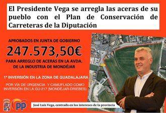 El PP critica que el socialista Vega vote en contra de un Plan de Arreglo de Travesías en los municipios de Guadalajara mientras el presidente