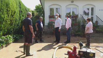 El presidente de la Diputación de Guadalajara supervisa actuaciones en los municipios afectados por las tormentas