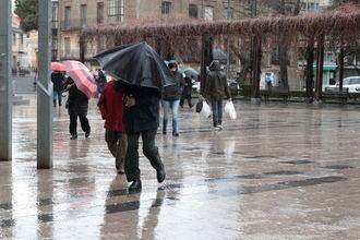 Llega a Guadalajara este lunes la borrasca Karine dejando lluvias, fuertes rachas de viento y una notable bajada de las temperaturas