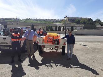 El Ayuntamiento de Villanueva de la Torre equipa con una completa motobomba a la Agrupación de Protección Civil del municipio