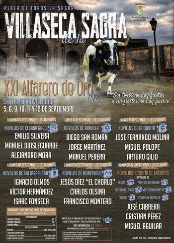 """Presentados los carteles del """"XXI Certamen de Villaseca de la Sagra Novilladas Alfarero de Oro 2021'"""