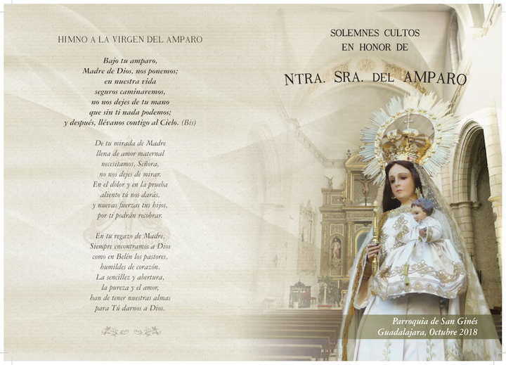 Programa de Cultos 2019 de la Cofradía Nuestra Señora del Amparo