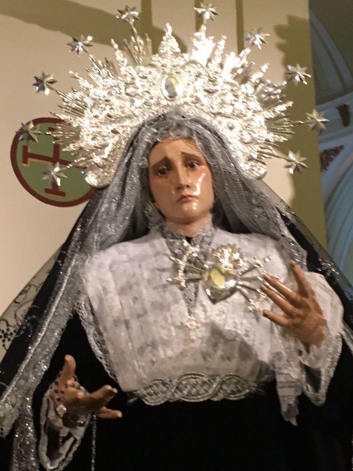 Virgen de los Dolores de Guadalajara. Foto : EDUARDO BONILLA