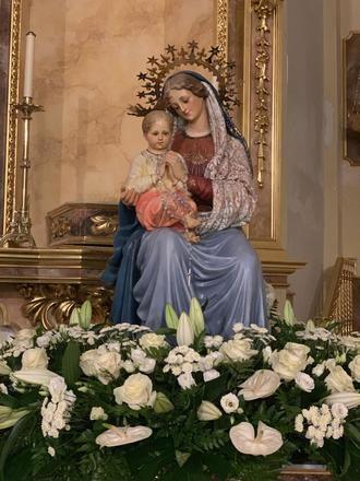 En 2021, de nuevo, solo oficio religioso en la celebración de la Virgen Blanca de Quer