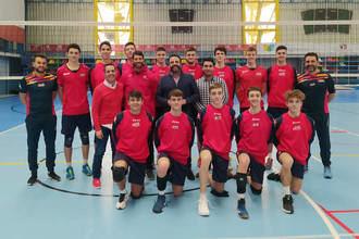 Azuqueca ha acogido a la selección sub 18 masculina de Voleibol en su preparación para el Preeuropeo de Serbia