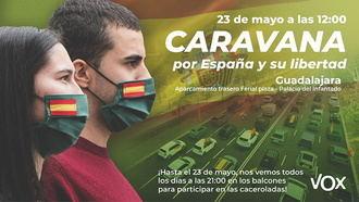 Vox Guadalajara ya tiene permiso para manifestarse en coche contra el Gobierno de Sánchez e Iglesias el próximo sábado 23 de mayo en la capital alcarreña