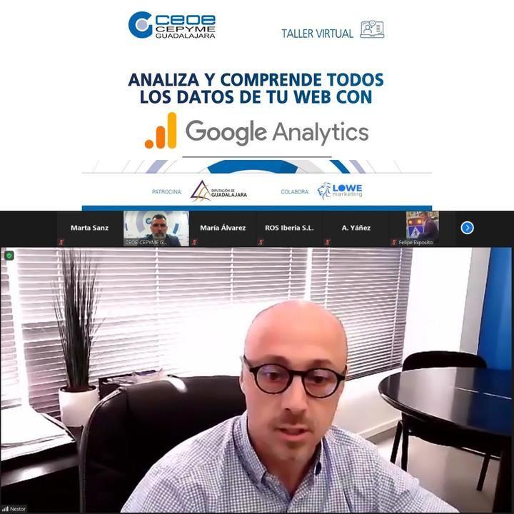 CEOE-CEPYME Guadalajara organizó esta webinar junto con el patrocinio de la Diputación provincial y la colaboración del Lowe Marketing