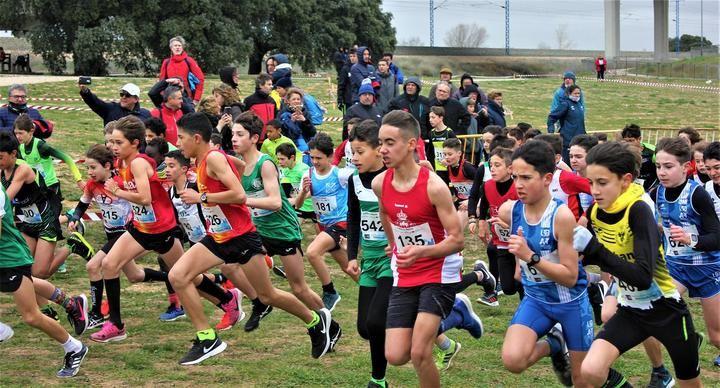 Más de 600 atletas vencen al frío y viento en el Campeonato Regional de campo a través en Edad Escolar de Valdeluz