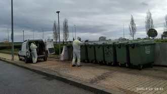 Se intensifican las labores de limpieza y desinfección en instalaciones municipales y vías públicas de Yebes y Valdeluz
