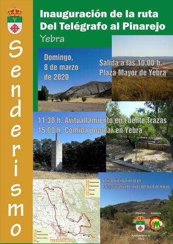 Yebra inaugura oficialmente su ruta senderista 'Del Telégrafo al Pinarejo' el próximo 8 de marzo
