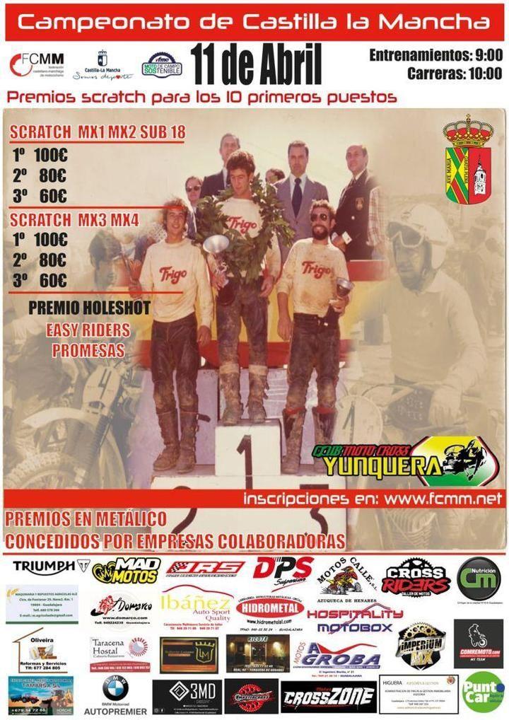 Yunquera de Henares acoge este domingo la segunda prueba del Campeonato de Castilla-La Mancha de Motocross