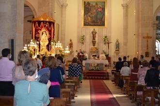 Pasión y devoción por la Virgen de La Granja en el 'Día Grande' de todos los yunqueranos